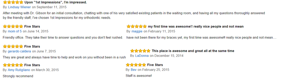 Denver Orthodontics Package Testimonials
